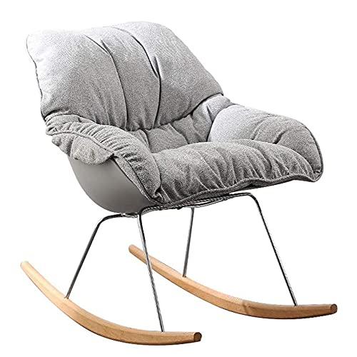 COUYY Silla corredera Individual Moderno Home Lazy Sofa Lounge Sala de Estar Interior Dormitorio Soporte de Metal Sillón de Ocio,Gris