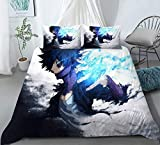 dgdgd My Hero Academia Dabi Anime 3 Piece Comforter Set Polyester Bedding Quilt Cover Pillowcase (US-Twin)