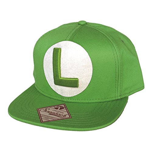 Nintendo Snap Back Cap with L in front, grün