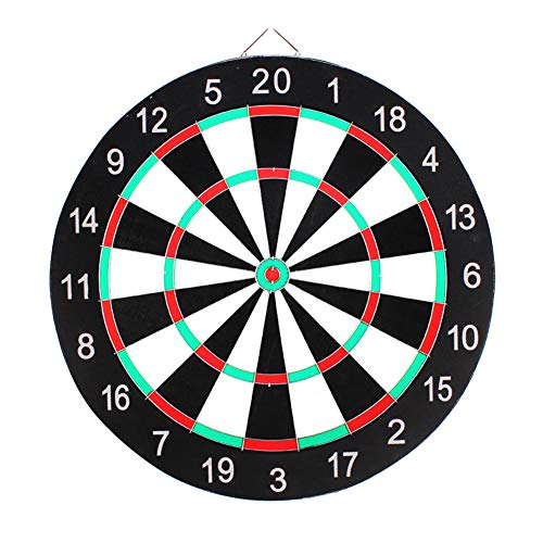 Best Price! Thboxes Professional Dartboard Double-Sided Dart Board with Darts Set Fitness Equipment ...