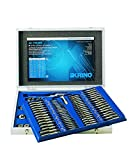 Krino 17012500 - Set Maschi e Filiere M+MF 2÷18 per Garage e Officine - 110 Pezzi...