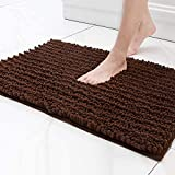 Lukzer 1 PC Chenille Microfiber Bath Mat for Bathroom Soft Door Mat Carpet Rug for Bedroom, Balcony, Front Door (Brown) 80 cm x 50 cm bath tub mat non slips May, 2021