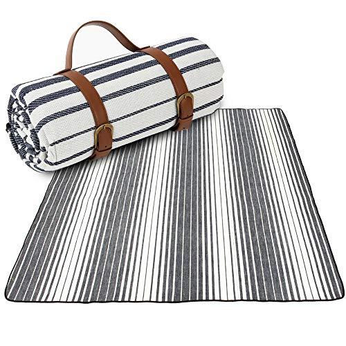 Artall Manta de pícnic o playa, impermeable, 200 x 200 cm, para 2 – 8 personas, manta de picnic XXL, manta de forro polar, aislamiento térmico, con asa de transporte