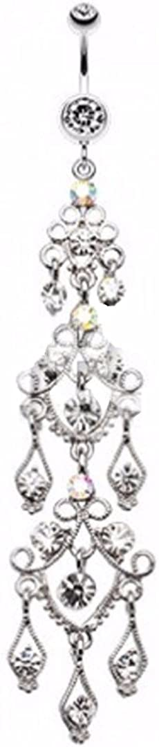 Body Accentz Belly Button Ring Navel Super Long 4
