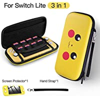 Jingdu Portable Hard Shell Nintendo Switch Lite Cover Case with 8 Game Card Slots
