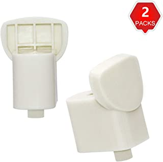 AMI PARTS 2 Pack WB06X10943 Handle Support White Compatible with GE Microwave