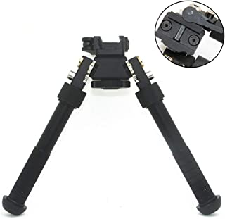 JINSE Bipod Picatinny Rail Quick Release Bipod Folding Swivel Adjustable 6.5-9 Inches