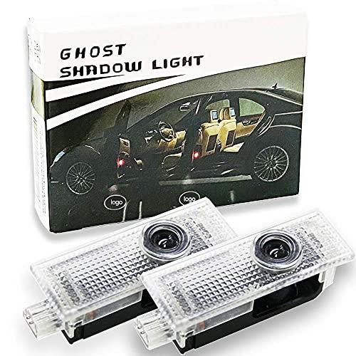 Spongent 2 piezas de luz de puerta de coche cortesía Shadow lámparas 3D Logo proyector Compatible con Mini Cooper R55 R56 R57 R58 R59 R60 R61 F54 F55 F56 F57