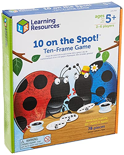 Learning Resources 10 ON The Spot Bingo NUMEROS, Multicolor (LER1764)