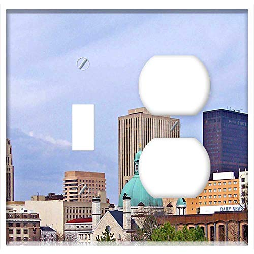 2-Gang, Toggle Outlet Combination Wall Plate Cover - Dayton Ohio Downtown Dayton Dayton Cityscape