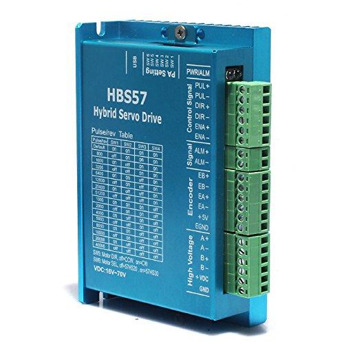 Leadshine Nema 23 2Nm Schrittmotor-Antriebssatz 573HBM20-1000+HBS507 8022 g in geschlossener Schleife DSP Hybrid Servo Kit New (HBS507)