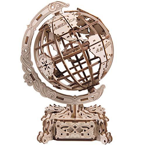 WOODEN.CITY WR341 World Globe Mechanisches Puzzle