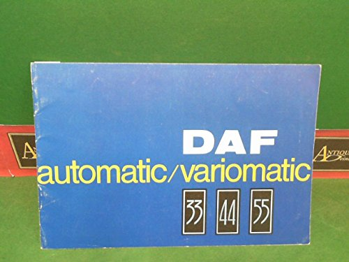 DAF automatic/variomatic 33/44/55. (= Farbprospekt).