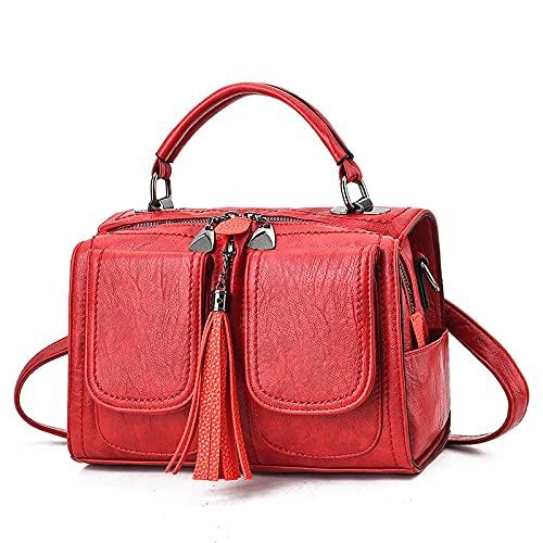 BeniBolsa de mujer Nuevo hombro diagonal bolso damas pequeño bolso-Vino rojo