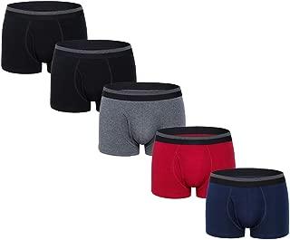 Mens Boxer Briefs Underwear Comfortable Cotton Breathable Tagless Short Leg Boxers Brief for Men Boys 5 Pack
