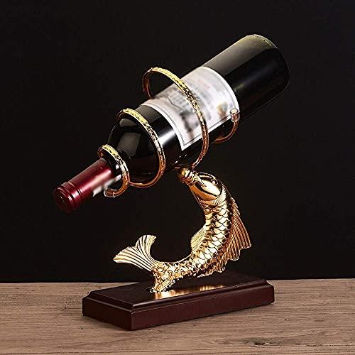 LSNLNN Estantes de Vino, Estante de Vino Pez Europeo Pequeño Porrible Botas de Vino Estante de Vino Soporte de Exhibición, Encimera Independiente Gabinete de Vino de Hierro Muebles Adornos de Decorac
