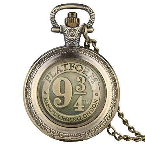 Charmante witte Arabische cijfers Wijzerplaat Pocket Horloge voor Vrouwen, Stijlvolle Bronzen Case Pocket Horloges voor Mannen, Prachtige Teken Sticker Hanger Horloge voor Mannelijk