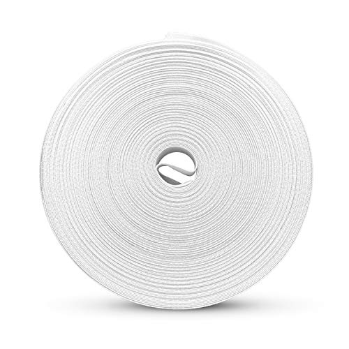 """Colibree - Bias Tape Single Fold - ½"""" Polyester Fabric - Binding Tape for Carpet Edges - Webbing for Upholstery -White, 55 Yards…"""