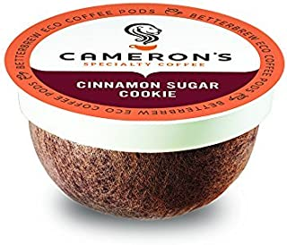 Cameron's Coffee Single Serve Pods, Flavored, Cinnamon Sugar Cookie, 12 Count (Pack of 1)