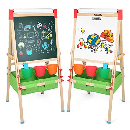 Arkmiido 4in1 Wooden Kid's Art Easel