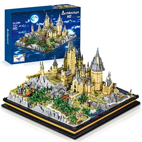 Sunbary 6862 piezas de castillo Hogwarts Upgrade Custom Bloques de construcción, modelo de construcción compatible con Lego 71043 Harry Potter Castillo Hogwarts