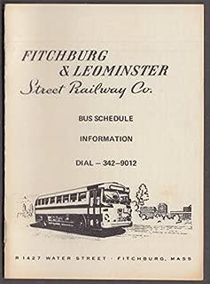 Fitchburg & Leominster Street Railway Bus Schedule undated; fare 25c ca 1950s