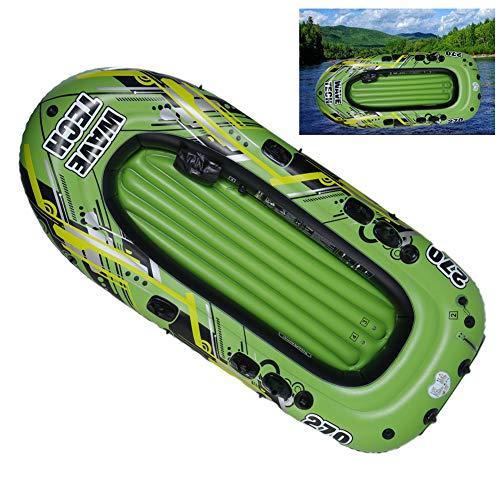 LTLWL Aufblasbares Schlauchboot Kajak Boot Set Klappbar Hydro Force Raft Badeboot Langlebiges PVC Schlauchboot Gute Wahl für Angler Oder Outdoorsportl,260cmx130cm