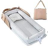 [VeroMan] ベッドインベッド ベビーベッド 持ち運び 赤ちゃん 洗濯可 折りたたみ 出産祝い (Bタイプ)