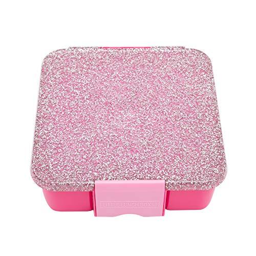 Little Lunch Box Co., Brotdose für Kinder mit Unterteilungen   Bento Box (Bento 5 - Glitzer Pink)
