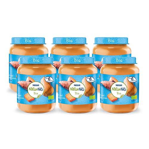 Naturnes Bio Zoete Aardappel, Pompoen, Zalm 6+ maanden babymaaltijd - 6 potjes van 190 gram