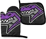 Stazary - Manoplas para horno con diseño de dinosaurio T rex, resistentes al calor