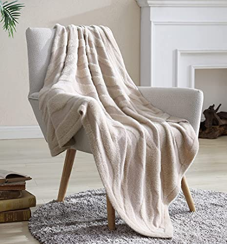 Snuggle Sac Lightweight Cozy Soft Throw Blanket, Summer Blanket, Cool, Knitted Decorative Blanket for All Seasons, for Bed Couch Sofa