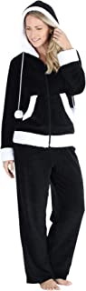 Women's Fleece 2-Piece Full Zip Hooded Jacket Loungewear Set