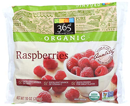 365 Everyday Value, Organic Raspberries, 10 oz, (Frozen)