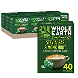 Whole Earth Sweetener Co. Stevia & Monk Fruit Sweetener, Erythritol Sweetener, Sweet Leaf Stevia Packets, Sugar Substitute, Natural Sweetener, 40 Count, Pack of 12