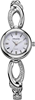 Gladster Women Bracelet Watch Diamond Dial Ladies Watches for Women Fashion Sports Waterproof Stainless Steel Mesh Wristwatch Dress og Quartz Watch