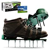 Pride Roots Pre-Assembled Lawn Aerator Shoes - Effective Tool for Aerating Yard Soil   Premier 2.2' Spike Sandals w/ 4 Metal Buckle Straps   Includes Lawn Aeration eBook   1 Size Fits All
