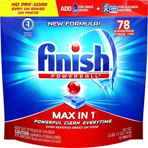 Finish - Max in 1-78ct - Dishwasher Detergent - Powerball - Dishwashing Tablets - Dish Tabs