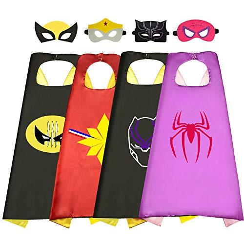 Dreaming Geburtstag Geschenke für Mädchen 3-12 Jahre, Superheld Umhang für Mädchen Dress up für Mädchen Party Favor Spielzeug Mädchen ab 3-12 Jahre 4 Stück