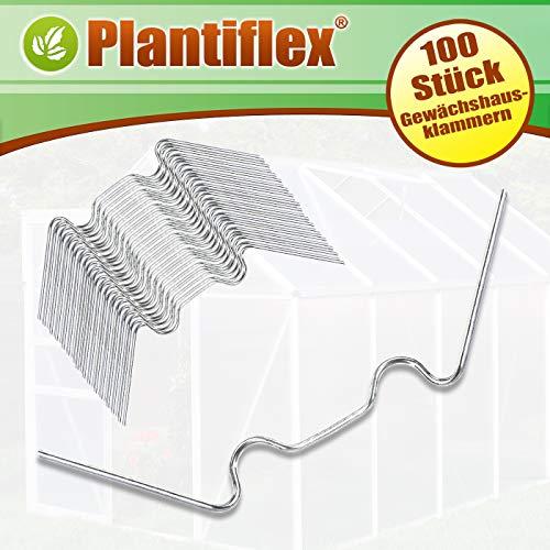 Plantiflex 100x Befestigungsschrauben selbstschneidend für PVC Gewächshaus Paneele Treibhaus Hohlkammerplatten Windsicherung