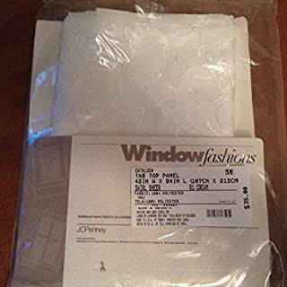 JCPenney Window Fashions Swirl Cream Sheer Tab Top Polyester Panel 42