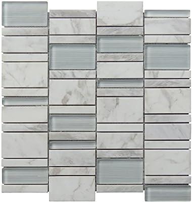 Intrend Tile NS021-B Natural Splendor Collection Tile, Sheets, Limestone Blend
