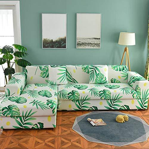 WXQY Funda de sofá nórdica, Funda de sofá de algodón, Funda de sofá Flexible para Sala de Estar, Adecuada para sofá Chaise Longue en Forma de L A11 de 3 plazas