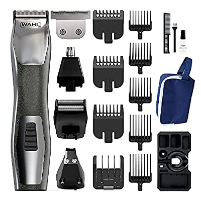 Wahl Beard Trimmer Men, Chromium 14-in-1 Hair Trimmers for Men, Nose Hair Trimmer for Men, Stubble Trimmer, Male Grooming Set, Body Trimmer for Men by Wahl