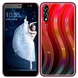 Moviles Libres Baratos 3G, 4GB ROM, 5.5 Pulgada Telefono Móvil, Android OS, Batería 2800mAh, Dual SIM Dual Cámara 5MP, WiFi/Bluetooth/GPS Móviles y Smartphones Libres (S1mini-Rojo)
