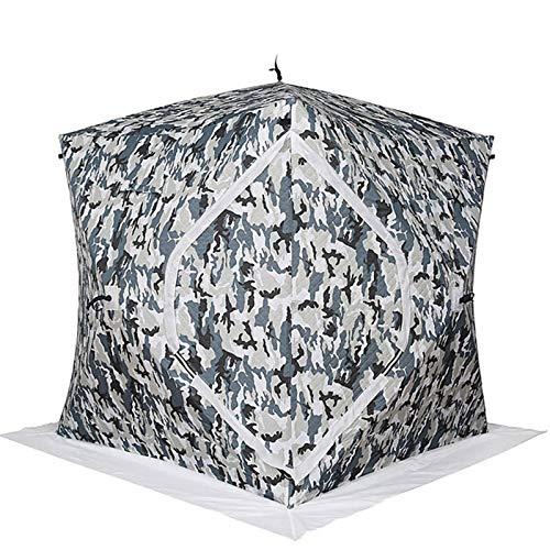 WMQ Frabill Ice Fishing Refugio, Carpa de Refugio de Pesca de Hielo Pop-Up Portátil para Exteriores, Resistente al Viento, Impermeable, para Vestir, Ducha, Inodoro, Carpa de Pesca