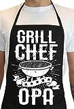 Grembiule da barbecue per uomini in nero, 70 x 100 cm, divertente regalo per gli appassionati di barbecue.