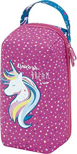 OFITURIA Tandem Unicornio Bocadillos Infantil, Bolsa Termica Porta Alimentos con Cremallera, Organizador Interior y Asa…