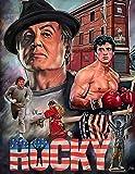Blechschild mit Rocky Balboa aus dem Film Boxen, Fitnessstudio, Vintage, 20 x 15 cm –...