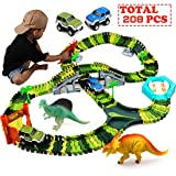 Klobroz Dinosaur Toys-208 Pieces Dinosaur Track Set-Best Gifts for 3 4 5 6 7 8 Year Old Boy, 192 PCS...